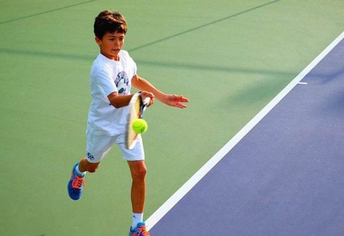 how to teach your child tennis